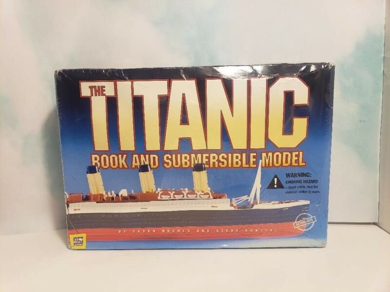 TITANIC BOOK and SUBMERSIBLE MODEL 💙 (c)1999 Hughes & Santini NEW IN BOX
