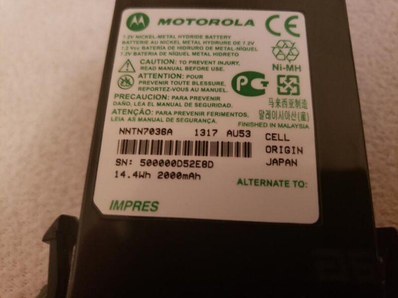 Motorola NNTN7036A Battery APX IMPRES Ni-MH NIB