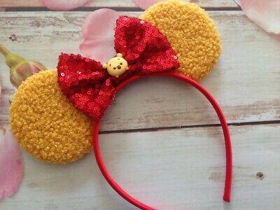 Pooh Ears (Pooh Furry Mouse ears headband-Disneyland-Disney)