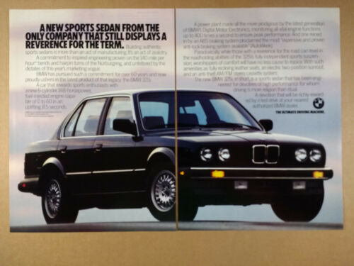 1987 BMW E30 325i Sports Sedan vintage print Ad