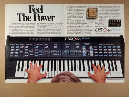 1985 Fender Chroma Polaris Synthesizer vintage print Ad