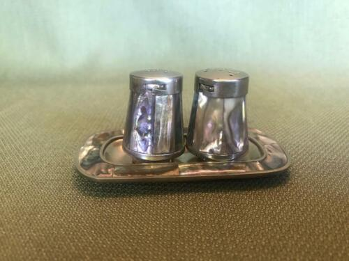 Vintage Abalone Salt and Pepper Shakers
