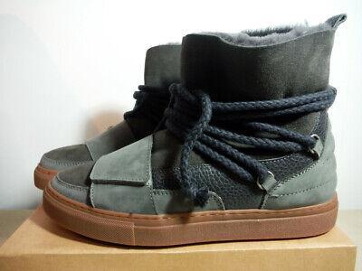 men's INUIKII Suede Sneaker Boot in Gray and Navy Retail $325