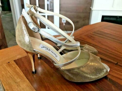 COMME IL FAUT BUENOS AIRS METALLIC SHOES, HEELS SIZE 37