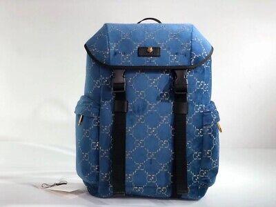 gucci backpack Blue Velvet GG