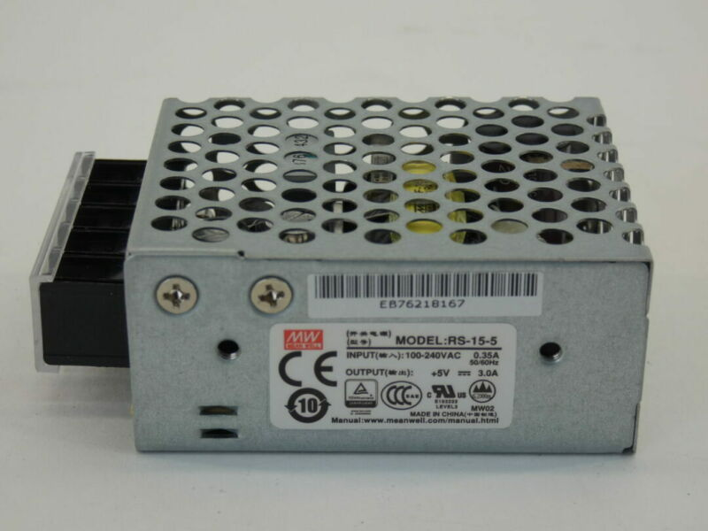 Mean Well RS-15-5 Switching Power Supply, 100-240VAC - NEW Surplus!