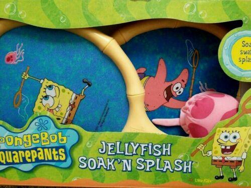 * RARE * SpongeBob Jellyfish Soak N Splash Paddle Set Badminton NEW NIB * 2001 *