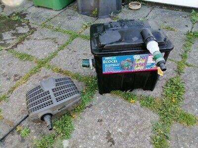 pond pump and filter box ,oase aquamax eco classic 5500 pump and ecocel 5000