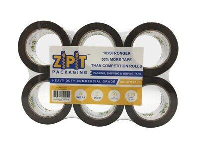 Zipit Packaging Brown Tape 2 Mil 110 Yard Per Roll 6 Rolls