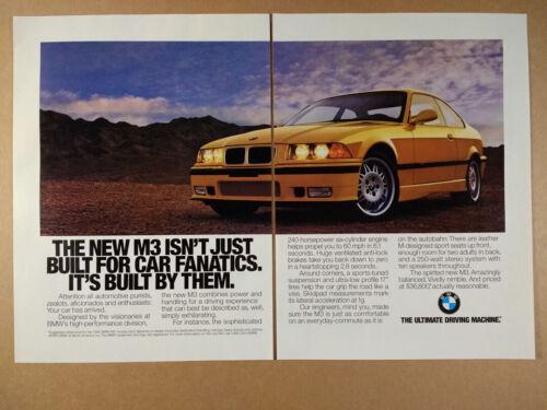 1995 BMW E36 M3 Coupe vintage print Ad