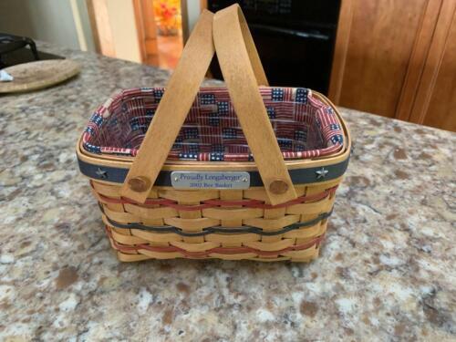 Longaberger 2002 Proudly Longaberger Bee Basket