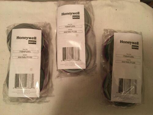 Honeywell 7584P100L AM/MA/P100 APR Filter Cartridges 3 Sets NEW Free Shipping