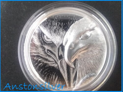 2020 Mongolia Majestic Eagle - 1oz Ultra High Relief .999 Silver Proof Coin