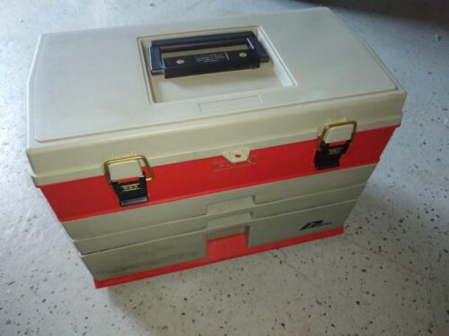 PLANO #833 TACKLE BOX 3 FRONT DRAWER & TOP STORAGE Salt/Fresh Water Tool Craft