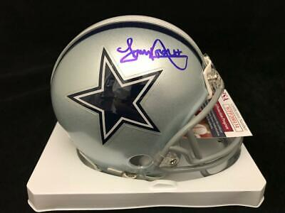 TONY DORSETT DALLAS COWBOYS SIGNED AUTOGRAPHED MINI HELMET JSA COA