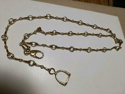 GUCCI Authentic GG LOGO Retro VINTAGE CHAIN BELT Accessory Adjustable Jewelry