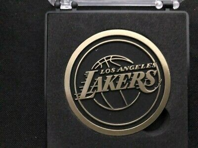new product 9993e 35ece Jerry Buss Commemorative Coin JB 1933-2013 Los Angeles Lakers SGA 1 27 19 -  Case