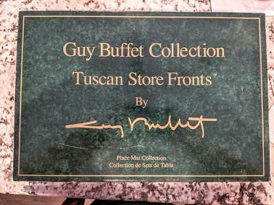 Guy Buffet Tuscan Store Fronts Vintage Placemats, Place Mats