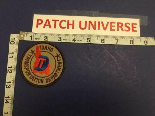 VINTAGE IDAHO TRANSPORTATION DEPT SHOULDER PATCH  BROWN VERSION  B140