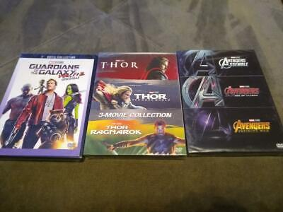 Marvel Lot - THOR: 3 Movie Collection, Avengers Trilogy, Guardians 1 & 2 - DVD ()