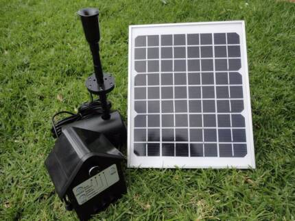 LARGE 10W Solar Panel POND WATER Fountain SOLAR PUMP Battery LED