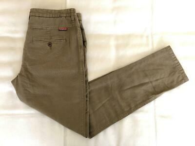 NWT SUPERDRY 100% Cotton Casual Pants Mens Size Large Olive