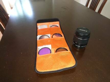Canon EOS EFS 18-55MM Mark II Zoom Cropped Frame Lens and filter