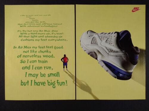 1993 Nike Air Max Training Shoes vintage print Ad