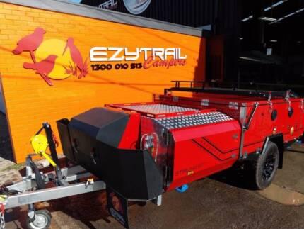 Ezytrail Stirling GT MK2 Hard Floor Camper Trailer - Red 1 only