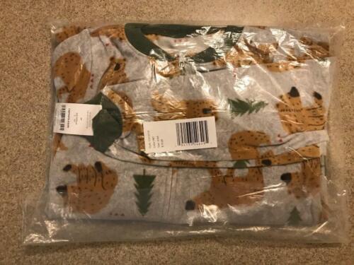 New Carters 1-Piece Brown Bear Fleece Footie Pajama Sleeper 6 7 8 10 12