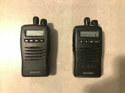 Lot Of 2 Kenwood Tk-2140 Vhf Portable Radios