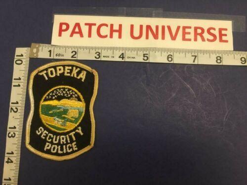 TOPEKA KANSAS SECURITY POLICE SHOULDER PATCH  D133