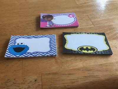 Clearance Birthday Party Food Labels Batman Cookie Monster Doc McStuffins Decor