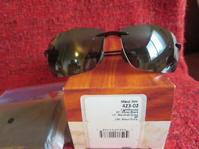 Maui Jim Lighthouse 423-02 Polarized Men Sunglasses - Black and (Maui Lighthouse)