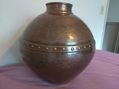 Metal Floor Vase Copper Finish Very Large Size Industrial Style (Sold Out Item) ()