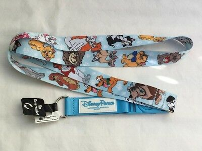 Disney Parks Disneyland Cats and Dogs Reversible Lanyard NWT