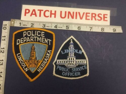 LOT OF 2 DIFF LINCOLN NEB POLICE  SHOULDER  PATCHES  D142