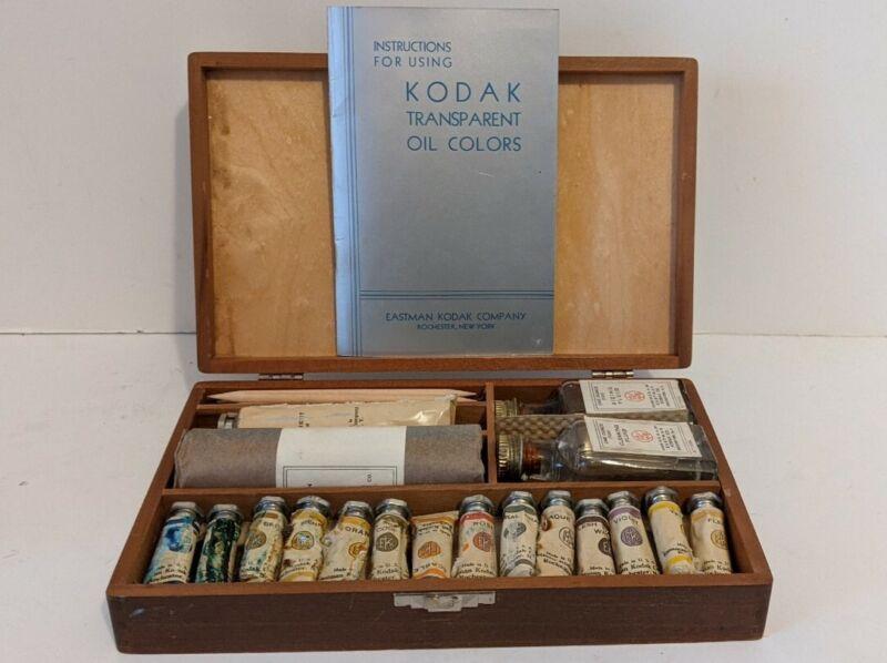 Vintage Kodak Transparent Oil Colors Eastman Kodak Display Only