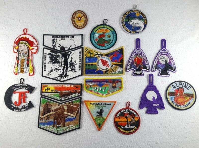 Lot Of 17 New Unused BSA Boy Scouts Of America Patches / Flaps - Free Shipping!