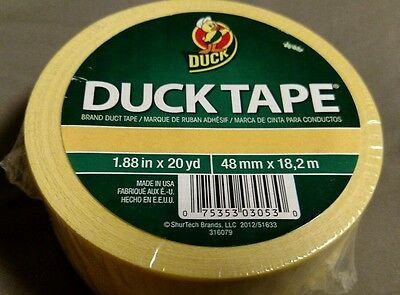 Duck Tape Yellow 1.88in X 20 Yrds
