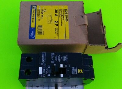 Square D 30 Amp Circuit Breaker Edb24030 New In Box  Nib