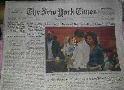 BARACK OBAMA - THE NEW YORK TIMES 1/20/ 2009 - Complete Newspaper and Never Read