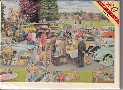 The Car Boot Sale Greetings Card - birthday Rothbury nostalgia boot fair