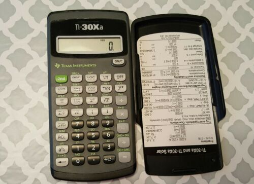 Texas Instruments TI-30XA Calculator, case, cover, Texas Instruments Scientific
