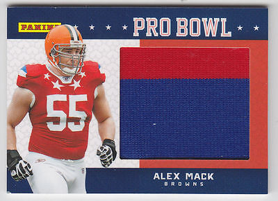 2012 Panini Fathers Day Pro Bowl Jersey Card Alex Mack Browns California Cal   3