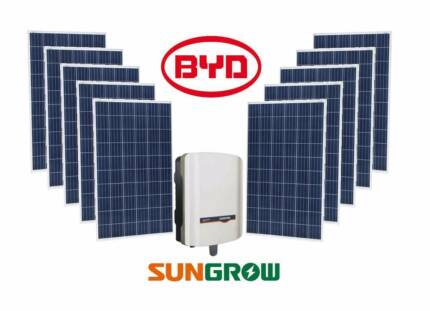 5kW Tier 1 BYD Solar Panels + Sungrow Inverter + Huge Savings!!!!