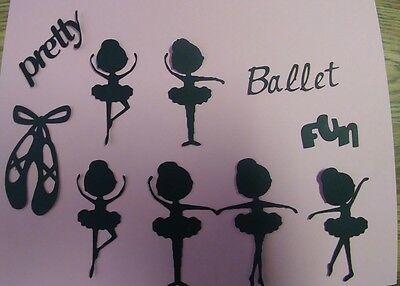 Ballerina Paper Die Cut Embelishment Scrapbook 10 pc