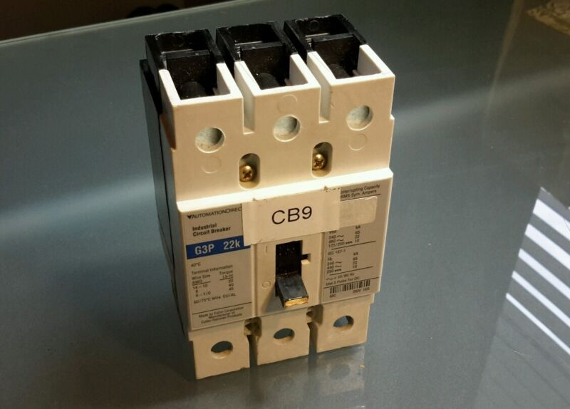 AUTOMATION DIRECT G3P 22K INDUSTRIAL CIRCUIT BREAKER 50A $39