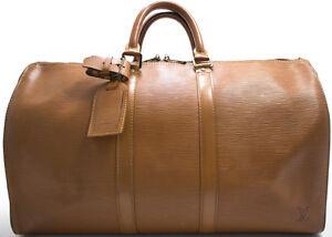 louis vuitton epi keepall 45 reise tasche bag braun brown beige rare weekender ebay. Black Bedroom Furniture Sets. Home Design Ideas
