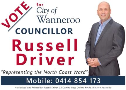 Re-elect Cr Russell Driver and Mayor Tracey Roberts Quinns Rocks Wanneroo Area Preview